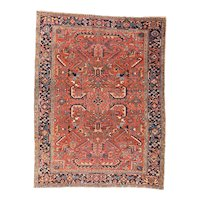 Excellent Persian Area Rug Wool Circa 1900, SIZE: 8'0'' x 10'7''
