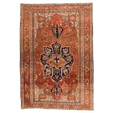 Antique Persian Serapi Area Rug