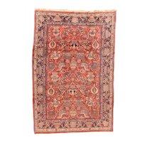 Semi Antique Fine Persian Sarouk Area Rug Wool Circa 1930, SIZE: 6'11'' x 10'11''