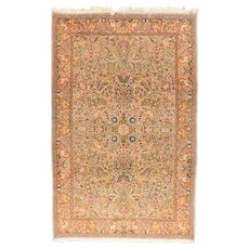 Hand Knotted Persian Qum Silk Circa 1950, SIZE: 6'6'' x 10'1''