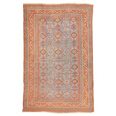 Antique Rust Persian Tribal Afshar Area Rug Wool 1890, SIZE: 3'11'' x 5'3''
