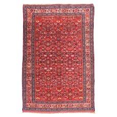 Fine Antique Bidjar Persian Rug, Hand Knotted, Circa 1890, Size 4' x 7'