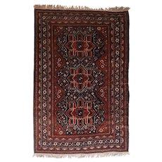 "Fine Antique Qashqai/Kashkai Persian Rug, Hand Knotted, Circa 1920, Size 5'11"" x 8'9"""