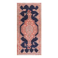 Antique Rose Malayer Persian Area Rug Wool Circa 1910, SIZE: 5'2'' x 10'2''