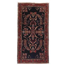 "Extremly Fine Antique Mohajeran Sarouk Persian Rug, Hand Knotted, Manchester Wool, Circa 1900, Size 2'5"" x 4'9"""