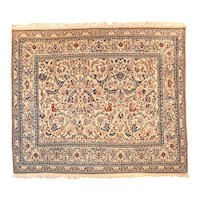 """Extremly Fine Antique Persian Nain Rug, Hand Knotted, Circa 1920, Size 5'3"""" x 6'"""