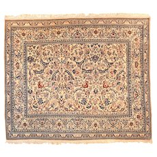 "Extremly Fine Antique Persian Nain Rug, Hand Knotted, Circa 1920, Size 5'3"" x 6'"