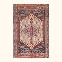 """Fine Vintage Shirvan Russian Rug, Hand Knotted, Circa 1930', Size 6'2"""" x 9'5"""""""