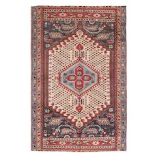 "Fine Vintage Shirvan Russian Rug, Hand Knotted, Circa 1930', Size 6'2"" x 9'5"""