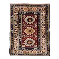 Antique Red Shirvan Kuba Russian, Area Rug Wool Circa 1910, SIZE: 2'7'' x 3'4''6''