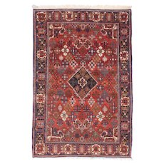"Fine Semi Antique Joshagan Persian Rug, Hand Knotted, Circa 1930's, Size 4'3"" x 6'7"""