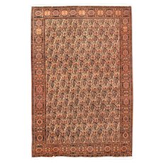 Fine Antique Farahan Persian Rug, Hand Knotted, Circa 1910, Size 4' x 6'3""