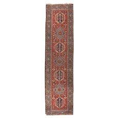 Fine Antique Persian Heriz/Serapi Runner Circa 1890, SIZE: 2'10'' x 11'2''