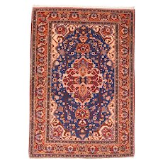 "Fine Semi Antique Isfahan Persian Rug, Hand Knotted, Circa 1930, Size 4'9"" x 6'10"""