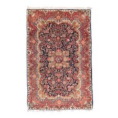"Fine Semi Antique Sarouk Persian Rug, Hand Knotted, Cira 1930's, Size 4'4"" x 6'10"""