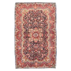 "Fine Semi Antique Sarouk Persian Rug, Hand Knotted, Cira 1930's, Size 4'5"" x 7'2"""