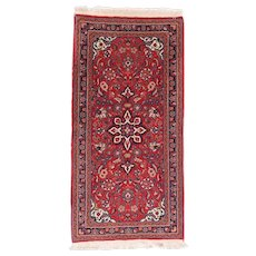 """Fine Vintage Farahan Persian Rug, Hand Knotted, Circa 1930's, Size 2'3"""" x 4'6"""""""