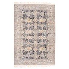 Antique Beige Nain Habibian Persian Area Rug Wool Circa 1910, SIZE: 6'0'' x 9'0''