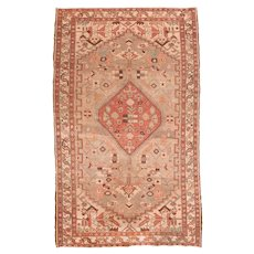Antique Red Serapi Persian Area Rug Circa 1890, SIZE: 4'7'' x 7'11''