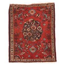Semi Antique Persian Bidjar Area Rug Circa 1940, SIZE: 2'0'' x 2'0''