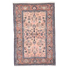 "Fine Antique Lillihan Persian Rug, Hand Knotted, Circa 1890, Size 4'1"" x 6'3"""