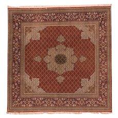 Excellent Persian Tabriz Design Area Rug Silk & Wool Circa 1700, SIZE: 8'6'' x 10'6''