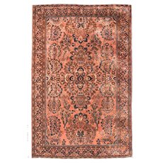"""Fine Antique Sarouk Persian Rug, Hand Knotted, Circa 1910, Size 4' x 7'6"""""""
