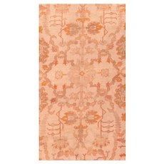 Antique Light Brown Oushak Area Rug Wool Circa 1890, SIZE: 11'4'' x 14'4''