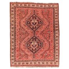 Fine Vintage Persian Shiraz Tribal Rug Circa 1950, SIZE: 5'3'' x 6'8''