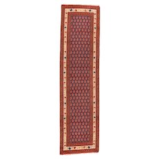 Fine Antique North West Persian Runner Wool Circa 1920, SIZE: 3'0'' x 11'3''