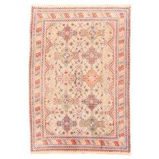 Fine Vintage Khotan Rug 100% Wool Circa 1940, SIZE: 7'2'' x 10'3''