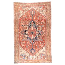 Antique Serapi Persian Rug, Circa 1890