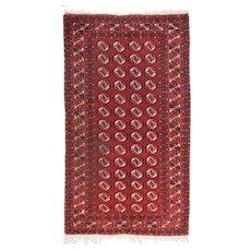 Fine Semi Antique Persian Turkmen Circa 1930, SIZE: 4'5'' x 7'0''
