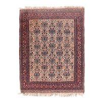 Semi Antique Rust Afshar Persian Area Rug Wool Circa 1930, SIZE: 5'0'' x 6'4''