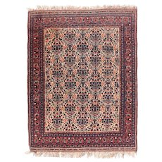 Semi Antique Rust Afshar Persian Area Rug Wool Circa 1930, SIZE: 5'0'' x 6'4''