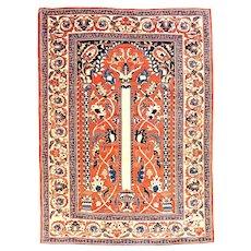 Antique Persian Tabriz Haji Jalili Area Rug