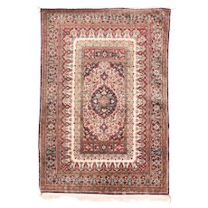 "Extremly Fine Persian Qum Rug Silk on Silk Hand Knotted , Size 3'6"" x 5'0"""