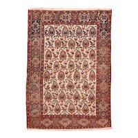 Antique Beige Beige Afshar Persian Area Rug Wool Circa 1890, SIZE: 4'4'' x 6'1''