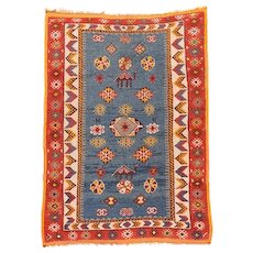 Fine Antique Moroccan Wool Rug Circa 1920, SIZE: 4'5'' x 7'3''