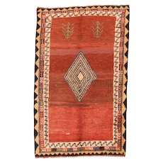 """Fine  Vintage Tribal Persian Gabbeh, Hand Knotted, Cica 1930's, Size 3'4""""x6'"""