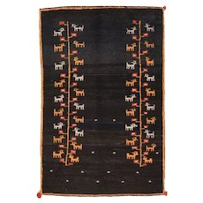 """Fine Vintage Persian Gabbeh,  Hand Knotted, Circa 1950's, Size 3'9""""x5'9"""""""