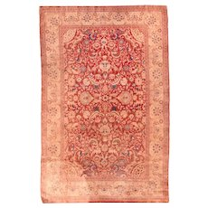 "Extrrely Fine Antique Turkish Silk Herekeh Signed Hand Knotted Circa1910, Size 4'3"" x 6'8"""