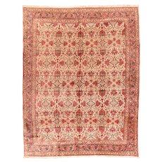 Antique Rust Fine Persian Bidjar Area Rug Wool Circa 1900, SIZE: 10'5'' x 13'7''