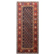 Antique Red Farahan Sarouk Persian Small Area Rug Wool Circa 1890, SIZE: 4'3'' x 5'9''