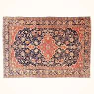 4.7 x 6.8 Antique Persian Farahan Sarouk