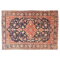 4.7 x 6.8 Antique Persian Farahan Sarouk