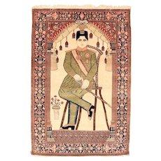 4.5 x 6.6 Motasham Kashan Signed