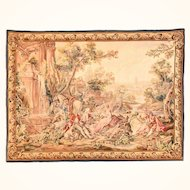 4.9x6.3 Aubusson Beauvais France Tapestry Pictorial