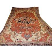 Antique Persian Heriz Rug Size: 9.9 x 14.9