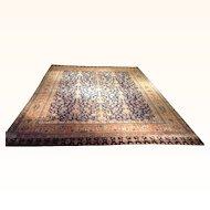 Antique Manchester Kashan Rug Size: 11.8 x 17.8